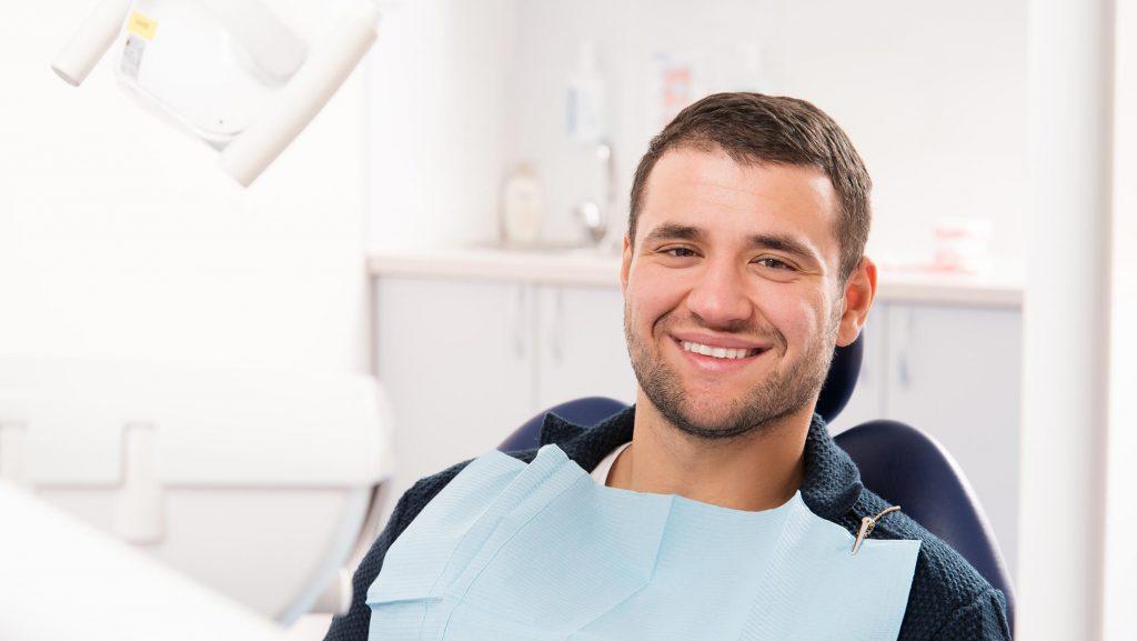 male patient smiling